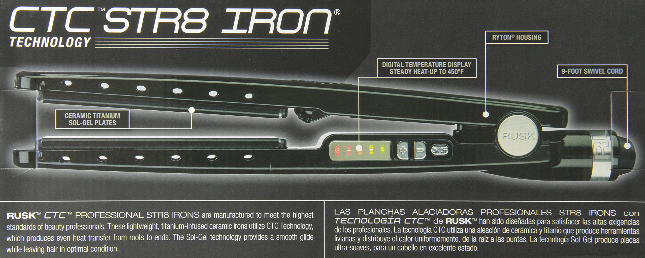 RUSK Engineering CTC Technology Professional Straight Iron, 1.25 Inch by RUSK (Image #2)