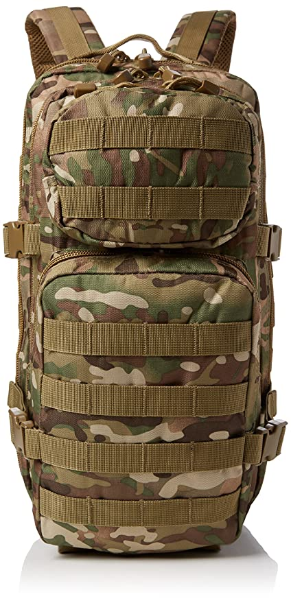 Mil-Tec Military Army Patrol Molle Assault Pack Tactical Combat Rucksack Backpack Bag 36L Multitarn