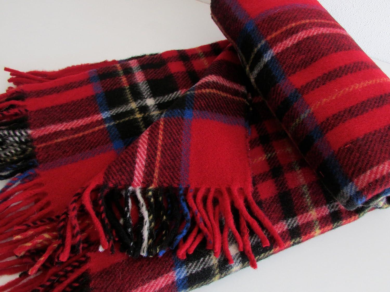 Alpenwolle Englisches Wollplaid Wolldecke 100% Wolle 155x200 Gewicht 1050g.