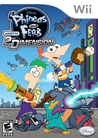 Phineas And Ferb Across The 2nd Dimension Nintendo Wii Disney Interactive Distri Video Games