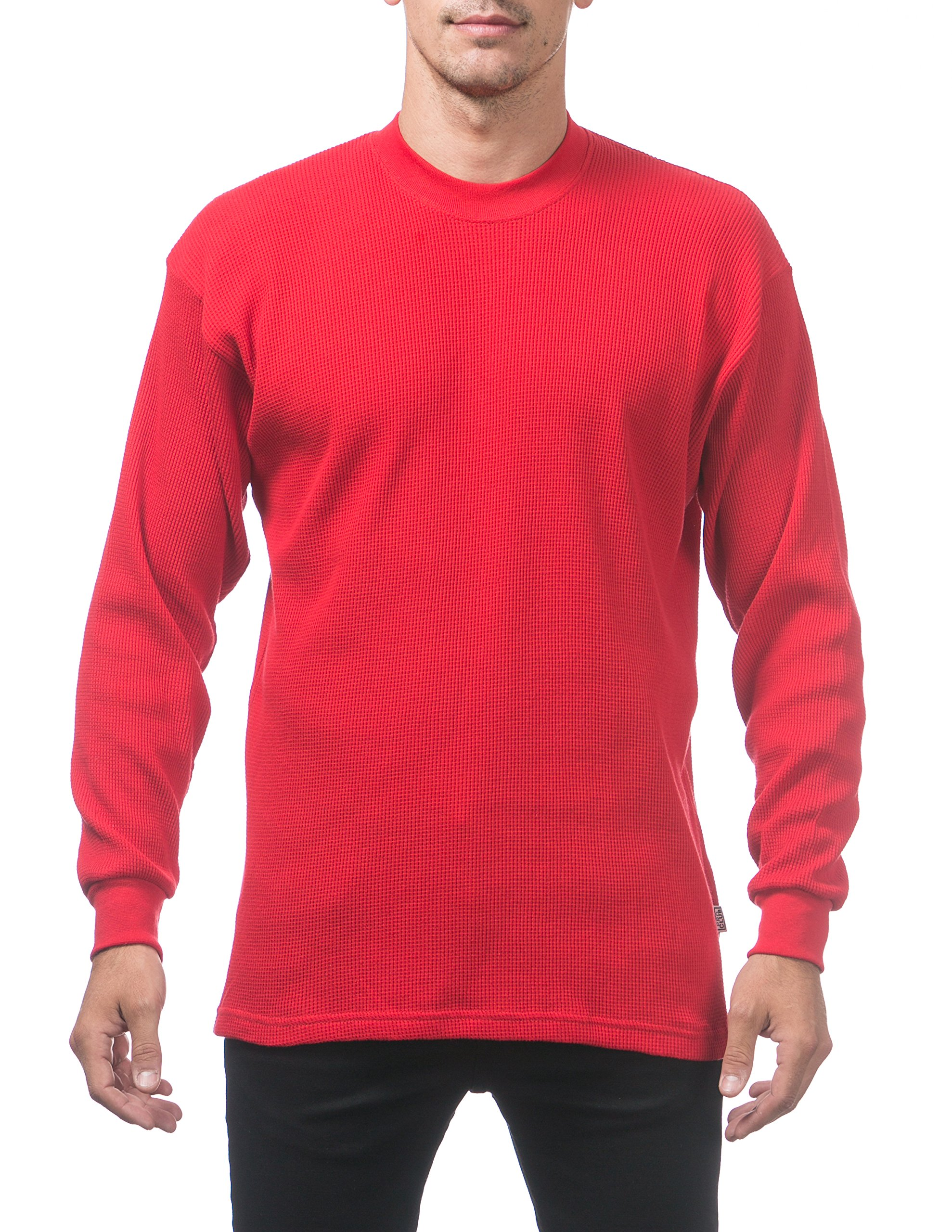 Pro Club Men's Heavyweight Cotton Long Sleeve Thermal Top, 4X-Large, Red by Pro Club