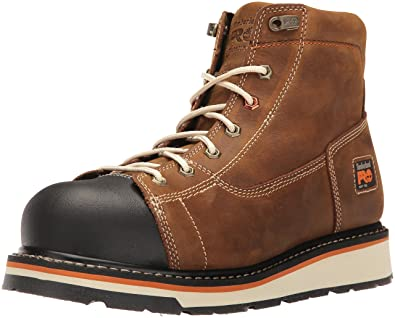 facdc6c21fa Timberland PRO Men s Gridworks 6 quot  Soft Toe EH Industrial    Construction Shoe Brown Full Grain