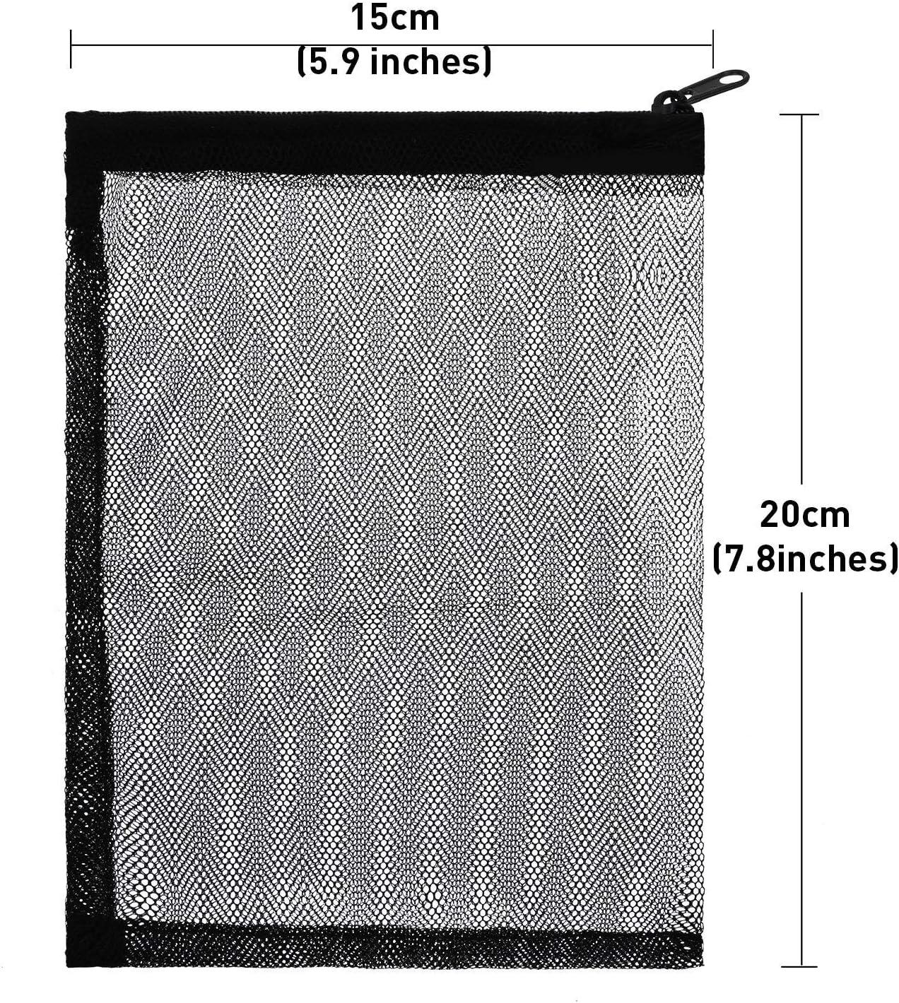 Yoogeer 20Pcs Filter Media Bags 20 x 15cm Reusable Aquarium Fish Tank Pond Net Mesh Bag,10x Black,10x White