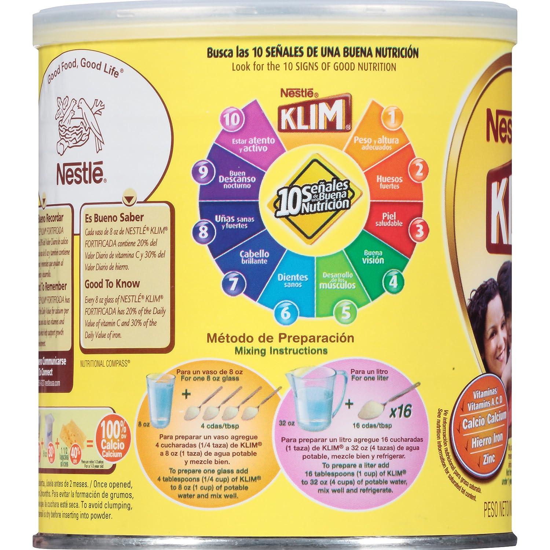 Amazon.com : Nestle Klim Instant Dry Whole Milk Powder Fortificada, 12.7 Ounce : Grocery & Gourmet Food