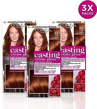 LOréal Casting Crème Gloss 543 - Tinte para el cabello semipermanente (3 unidades)