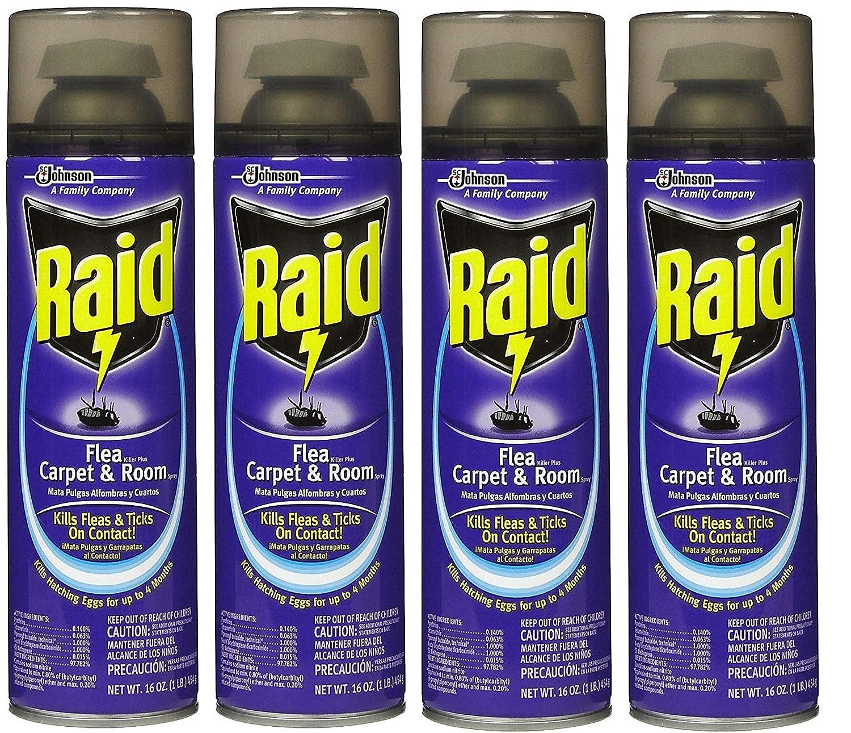 Amazon.com: Raid Flea Killer Plus Carpet & Room Spray, 16 OZ (Pack - 2): Health & Personal Care