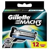 Gillette Mach3 Rasierklingen für Männer 12Stück