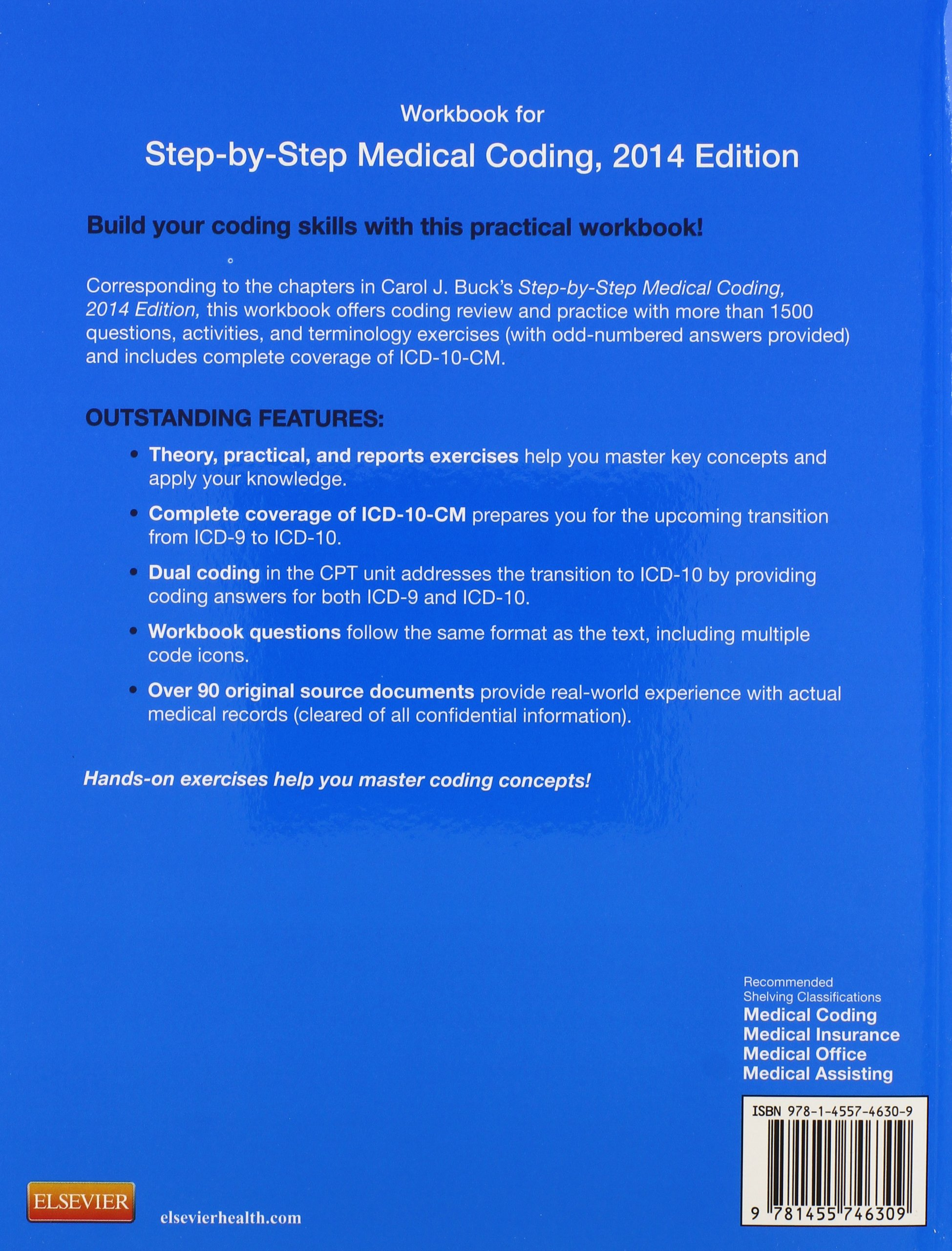 Workbook for Step-by-Step Medical Coding, 2014 Edition