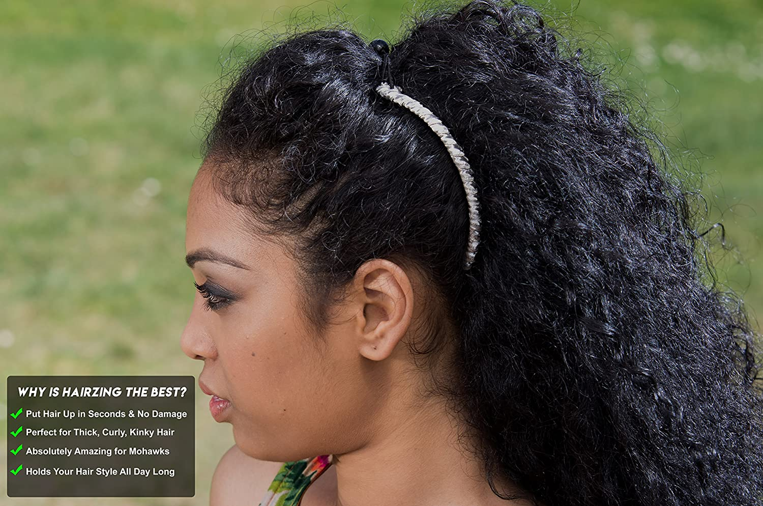Banana Clip for Thick, Curly, Kinky Hair - Put Your Hair Up in Seconds with  No Damage, Creases, or Pain -