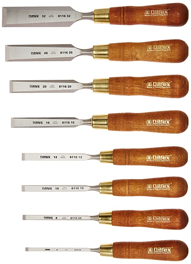 5pc Carpenters Quality Wood Chisel Set 6,12,19,25 and 32mm Neilsen