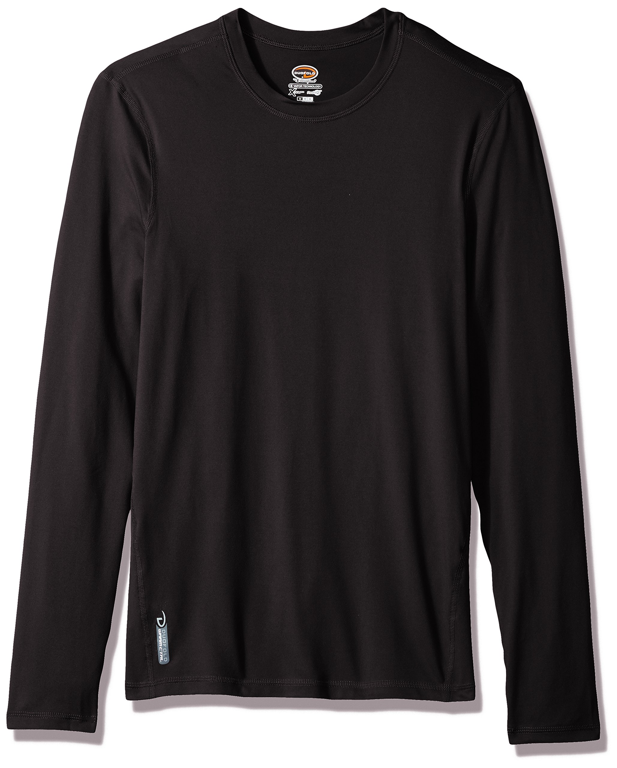 Duofold Men's Flex Weight Thermal Shirt, Black, Medium by Duofold