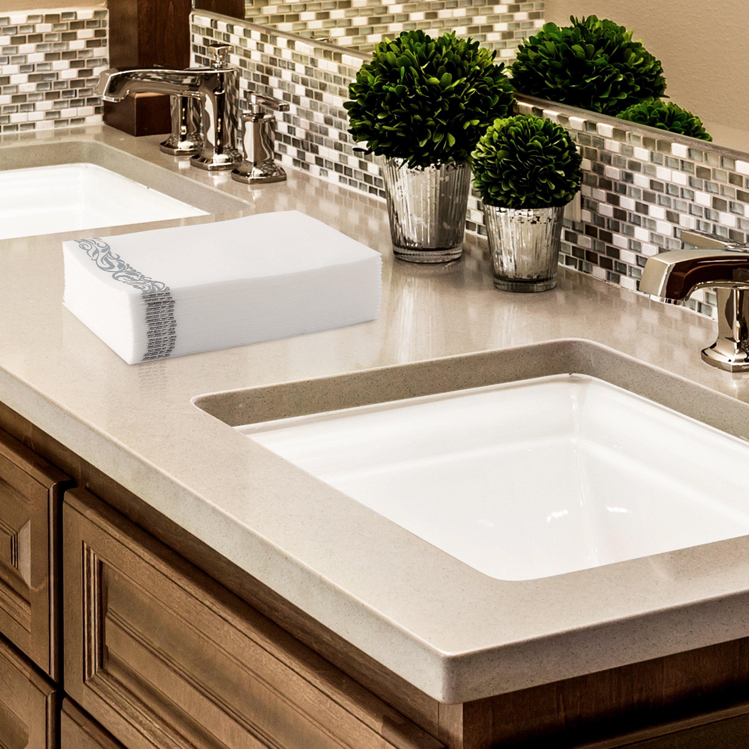 100pcs guest bathroom hand towels soft paper napkins hq - Disposable guest towels for bathroom ...