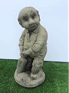 Stone Cricket Player Garden Ornament Statue Cricketer Sport