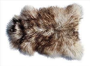 Genuine Icelandic Sheepskin Rug Throw (Shade of Brown - Curly Pile)