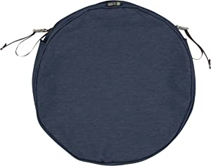 Classic Accessories Montlake Water-Resistant 15 x 2 Inch Patio Chair Seat Cushion Slip Cover, Heather Indigo Blue