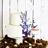 Edible Butterflies © - Ombre Monarchs Purple- Set of 12 - Cake and Cupcake Toppers, Decoration