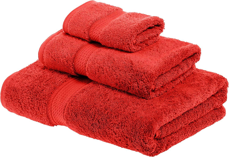 Superior - Juego de Toallas de algodón de 900 g/m2, Color Rojo, 3 ...