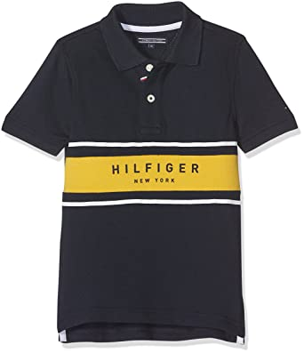 4410f5eab Tommy Hilfiger Boy s Placed Stripe Rib S S Polo Shirt