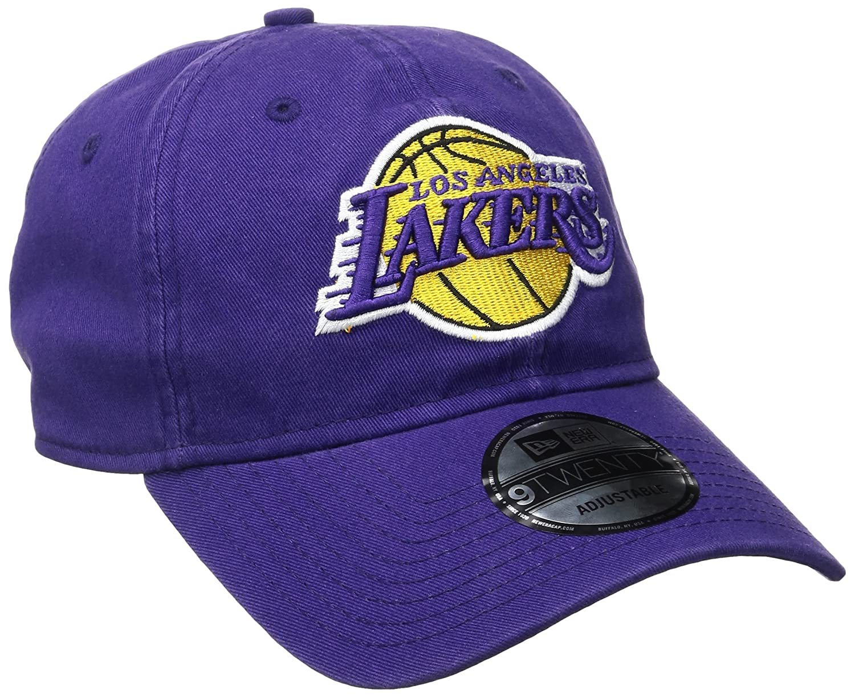 cee356ac Amazon.com: NBA Los Angeles Lakers Core Classic 9Twenty Adjustable Cap,  Purple, One Size: Clothing