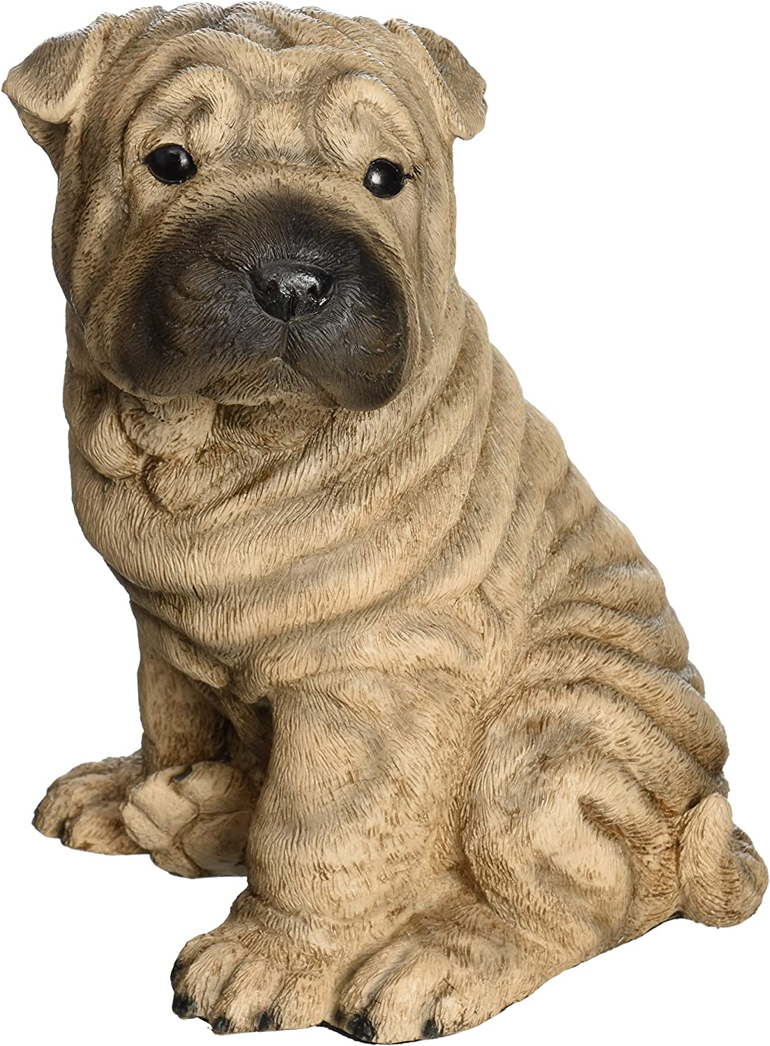 RED SHARPEI Dog Statue Stone Highly Detailed Garden Ornament