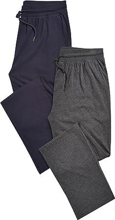 next Hombre Pack De Dos Pantalones De Pijama Largos Abertura En Bajo: Amazon.es: Ropa y accesorios