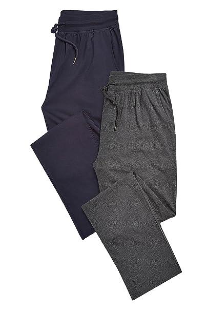 next Hombre Pack De Dos Pantalones De Pijama Largos Abertura En Bajo
