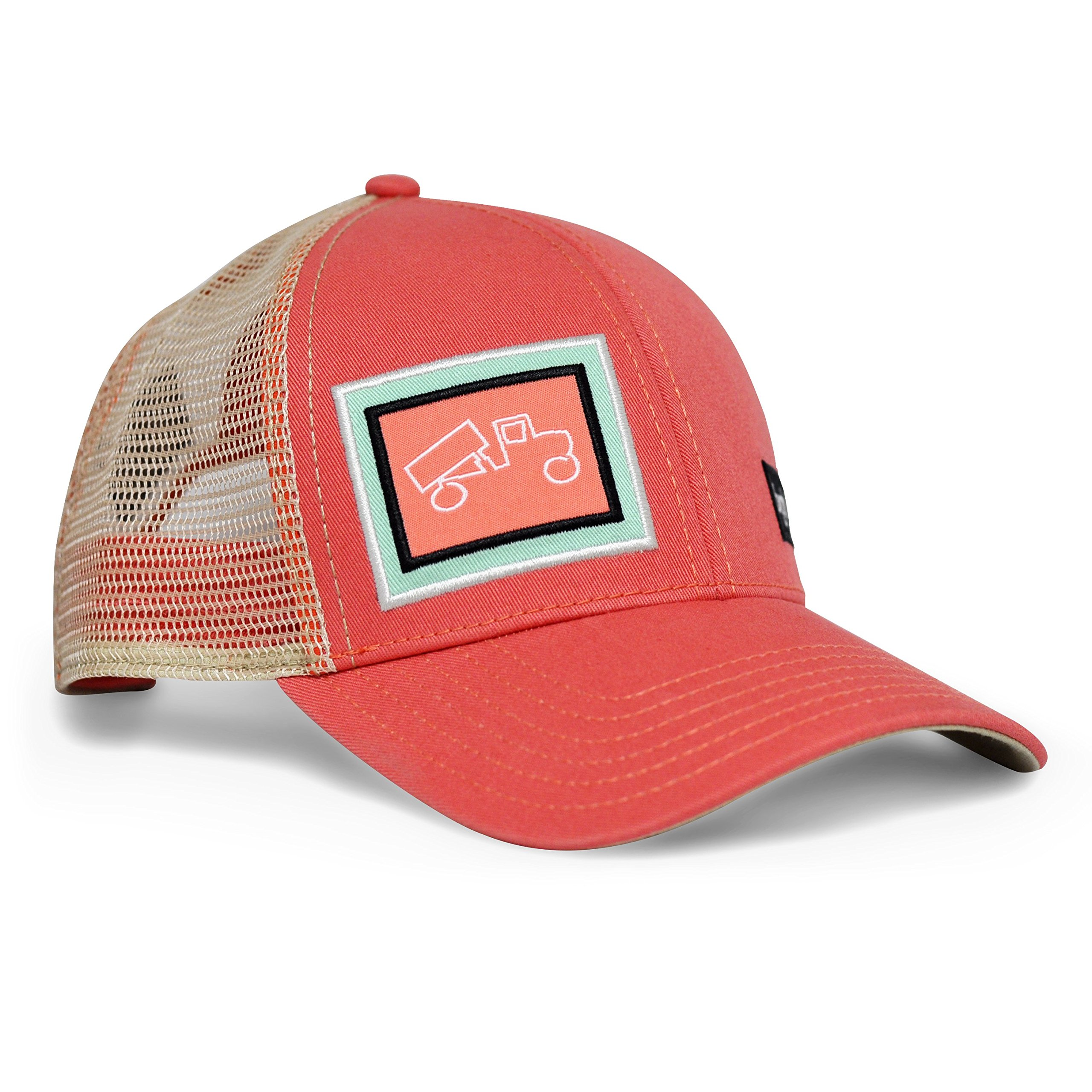bigtruck Classic Trucker Hat, Salmon Khaki, Adult