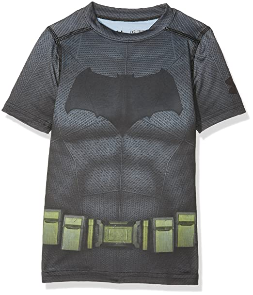 ac09e13f98e5b3 Under Armour Kids Boys Batman Suit SS, Graphite, Youth X-Small Big /