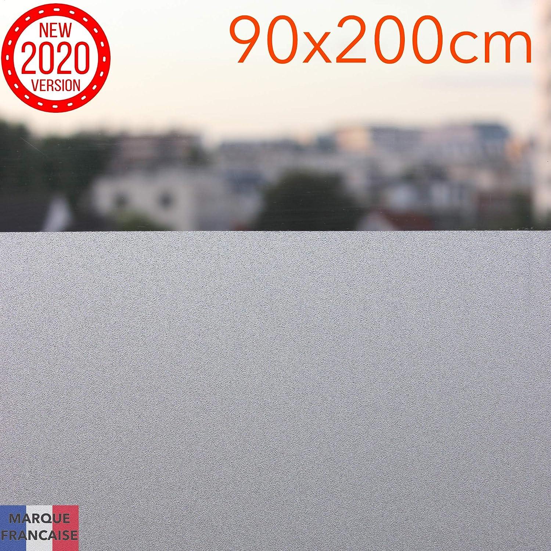 Takit Film Opaque pour Fen/être Salle De Bains Cuisine Autocollant Statique D/écoratif Anti-UV 90 * 200 Cm Bureau pour Chambre Auto-adh/ésif Film D/'intimit/é pour Fen/être