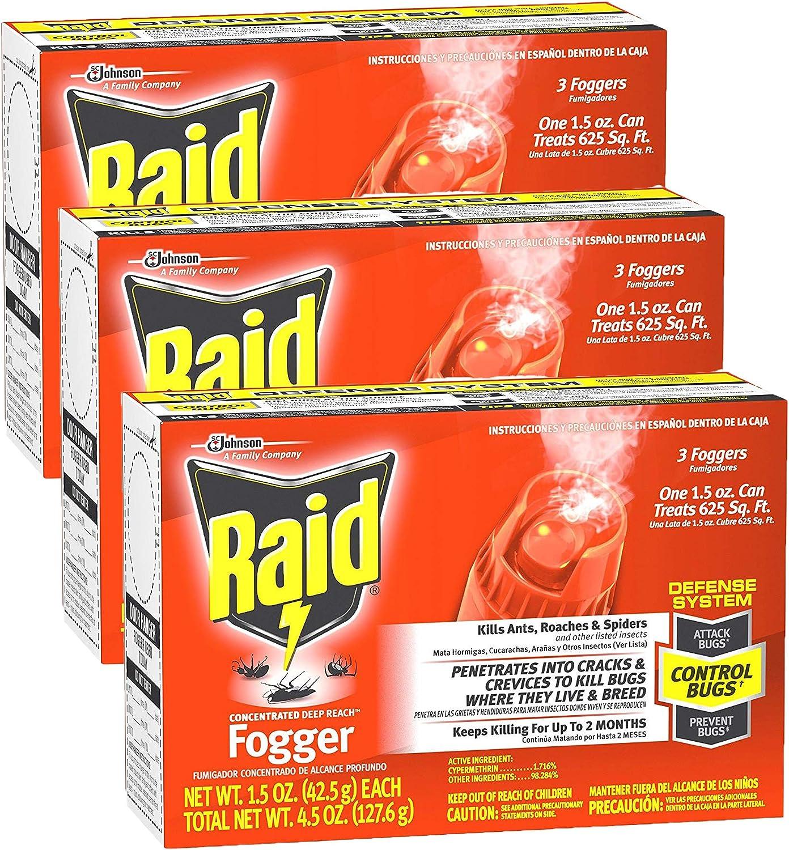 Raid Concentrated Deep Reach Fogger (Pack - 3)