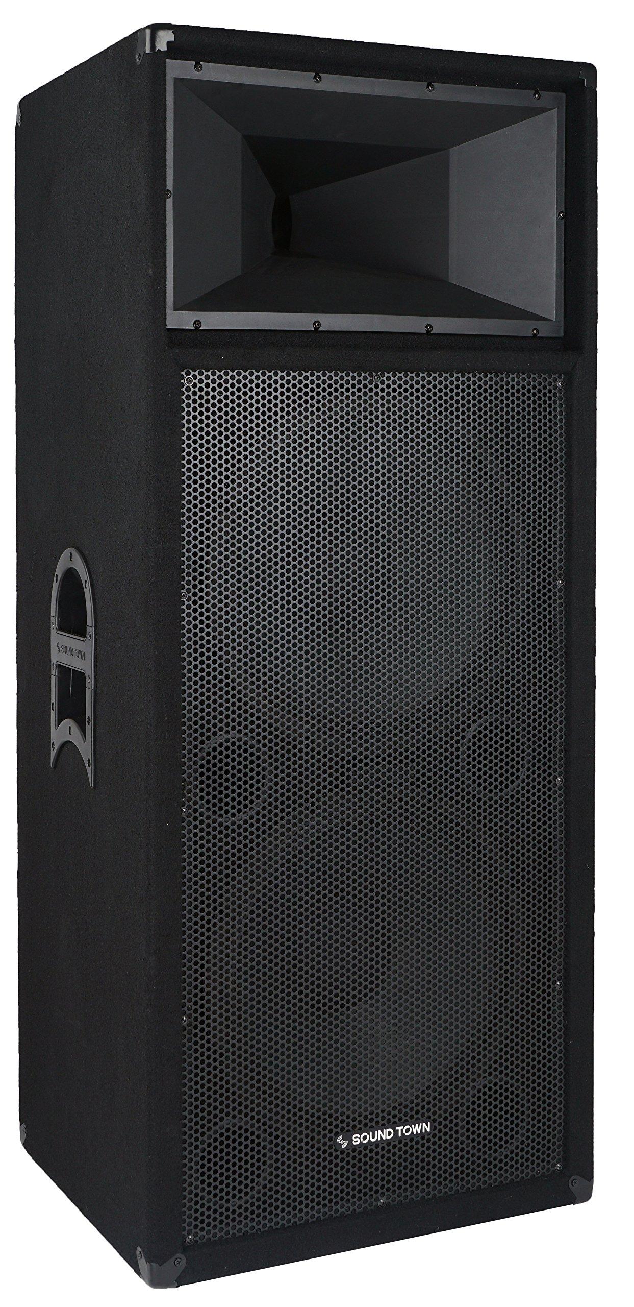 Sound Town ELARA Series Dual 15'' 1600W Full-range DJ/PA Speaker (ELARA-215) by Sound Town