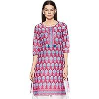 Indigo Women's Cotton Straight Kurta