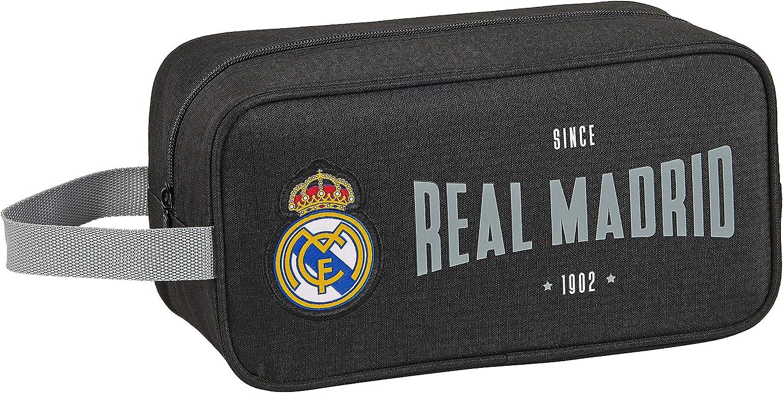 safta812024682 Bolso Zapatillas zapatillero 29 cm Real Madrid CF, Negro, 812024682