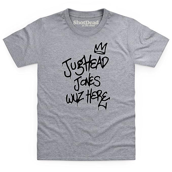 Inspired by Riverdale - JugHead Wuz Here Camiseta infantil, Para nios, Gris jaspeado,