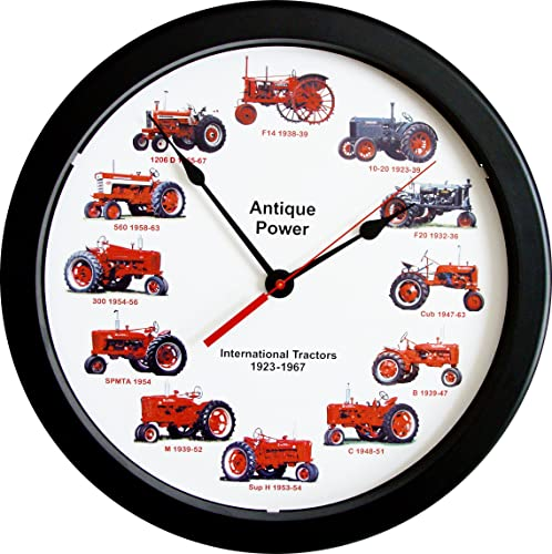 New 14 Massive International Farmall Wheel Dial Vintage Tractors from 1923-1967 14 Inches Round Wall Clock