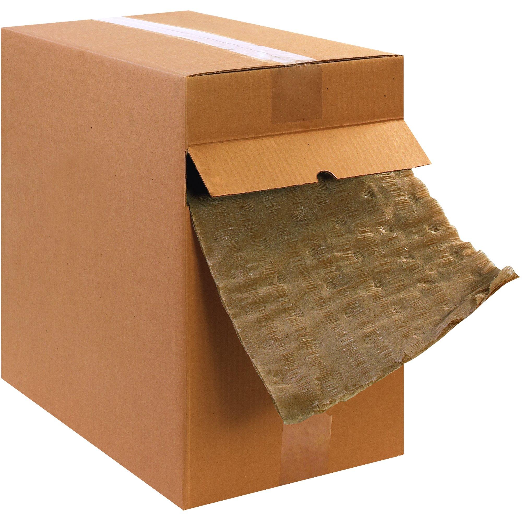 BOX USA BKIMDIS12 Versa-Pak Cellulose Wadding Dispenser Pack, 12'' x 200', Kraft (1 Each) by BOX USA