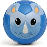 Chastep Soft Toy Ball Mini Training Foam Soccer for Toddlers and Kids Gift-Serious Rhinoceros