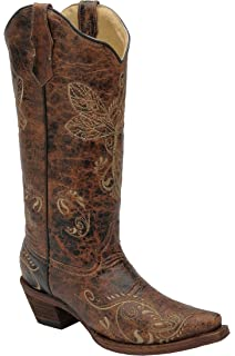 timeless design f2cc1 d412f Corral Women s Circle G Distressed Bone Dragonfly Embroidered Western Boot