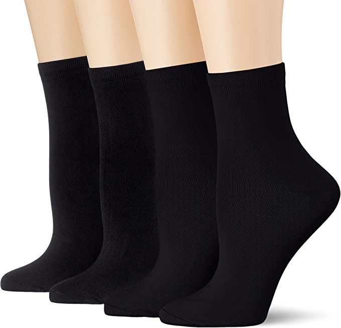 Dim Socquette Skin 3+1 Gtt Calcetines, Negro (Noir/Noir/Noir/Noir ...