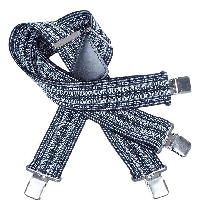 "Wide 2/"" Solid Straight Clip Suspender Camo Mens Utility Suspenders X Shape"