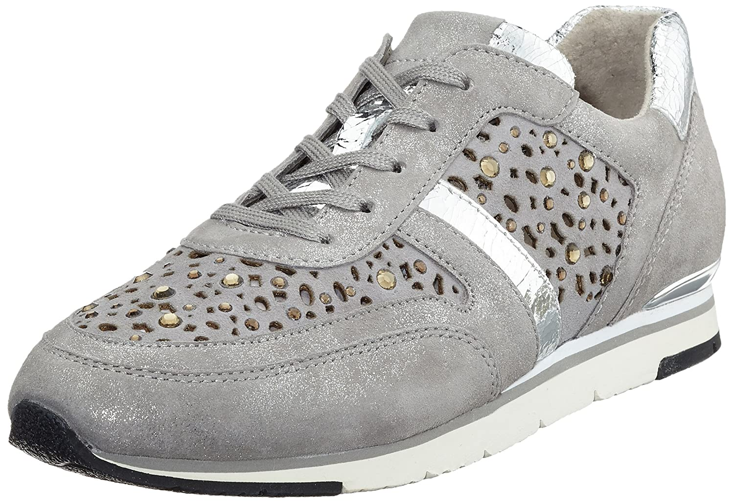 Gabor Shoes Fashion, Zapatillas para Mujer 39 EU|Gris (Grau/Stonestrass)