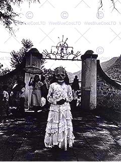 VINTAGE PHOTO PORTRAIT LITTLE GIRL COMMUNION DAY DEAD MEXICO NEW FINE ART PRINT POSTER PICTURE 30x40