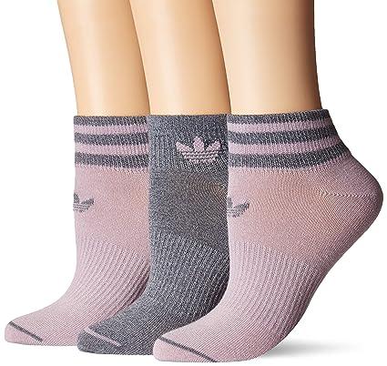 3e69066635108 adidas Women's Originals Low Cut Socks (3-Pack), Soft Vision Purple/Onix -  Light Onix Marl, Medium