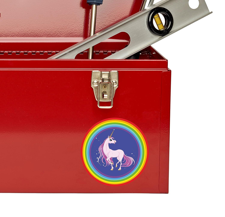 2 x Magical Unicorn Vinyl Sticker Laptop Travel Luggage #4312