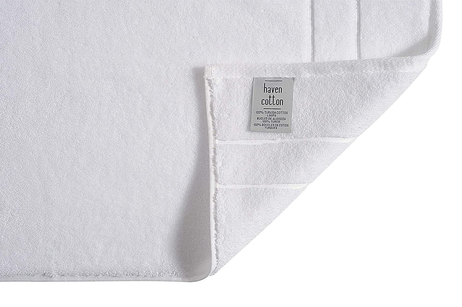 12 Pcs Haven Cotton 809407115184 Hand Towel White
