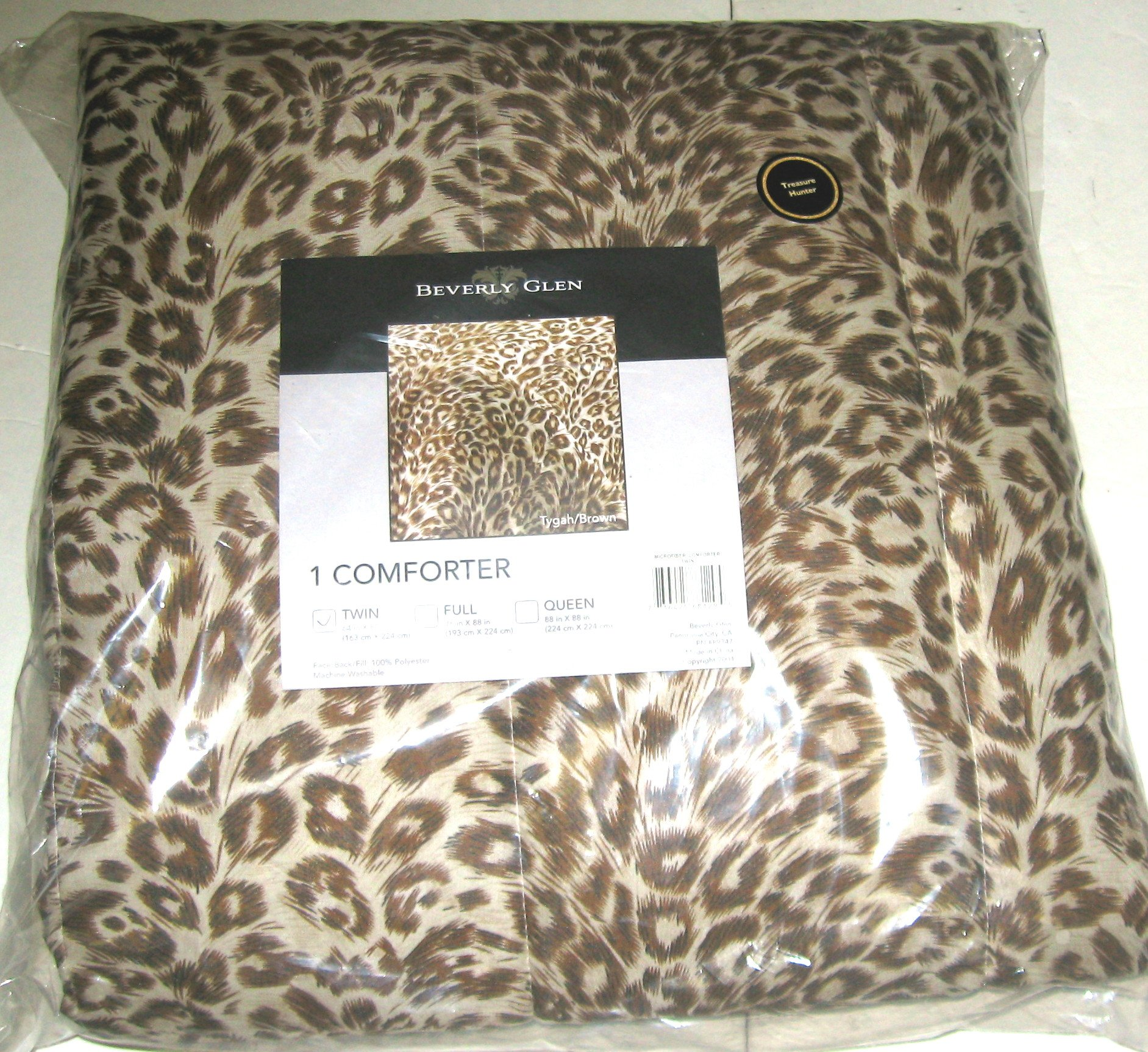 Beverly Glen Animal Print Microfiber Comforter Twin 64 in x 88 in