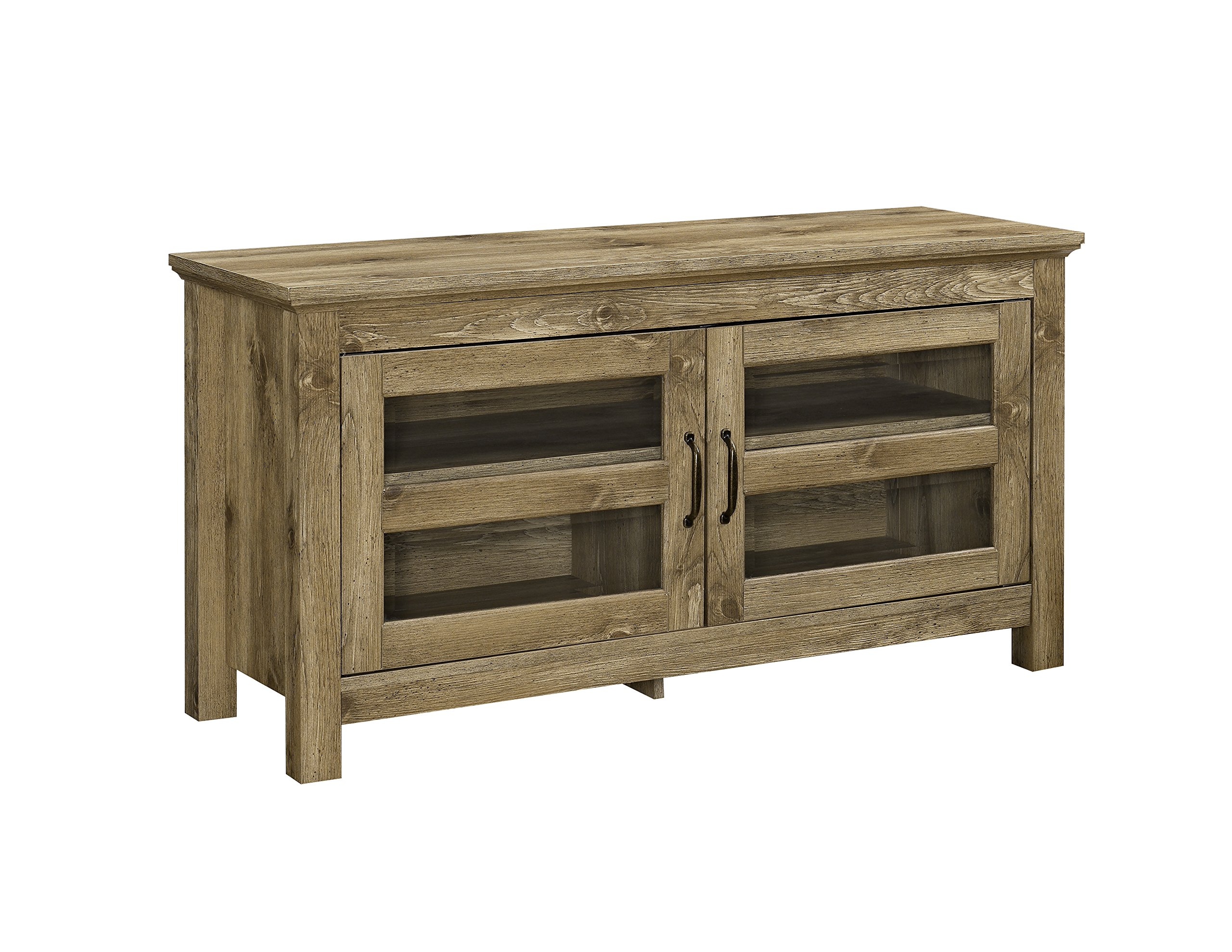 WE Furniture AZQ44CFDBW Simple Wood Stand for TV's up to 48'' Living Room Storage, Barnwood by WE Furniture