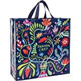 """Blue Q Random Crap Shopper, Reusable Grocery Bag, Sturdy, Easy-to-Wipe-Clean, 15""""h x 16""""w x 6""""d, Made From 95% Recycled Mater"""