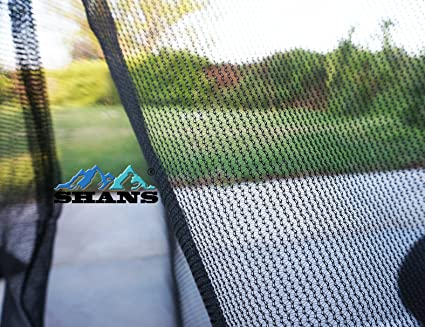 SHANS Anti Hail Netting,Bird Screens Insect Netting, Protect Plants Fruits  Animals Pets …(Black 20ft x 20ft)