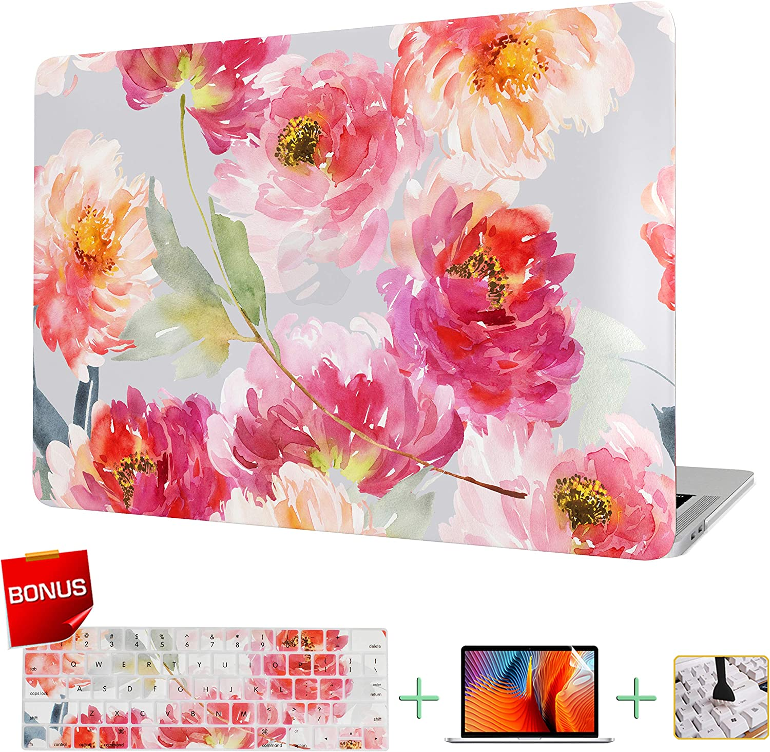 VAESIDA MacBook Pro 15 Inch Case, Floral Laptop Cover & Keyboard Cover & Screen Protector Only Compatible Mac Pro 15 Release 2012-2015 (Older Version Pro 15 Retina Model: A1398) (Watercolor Flowers)